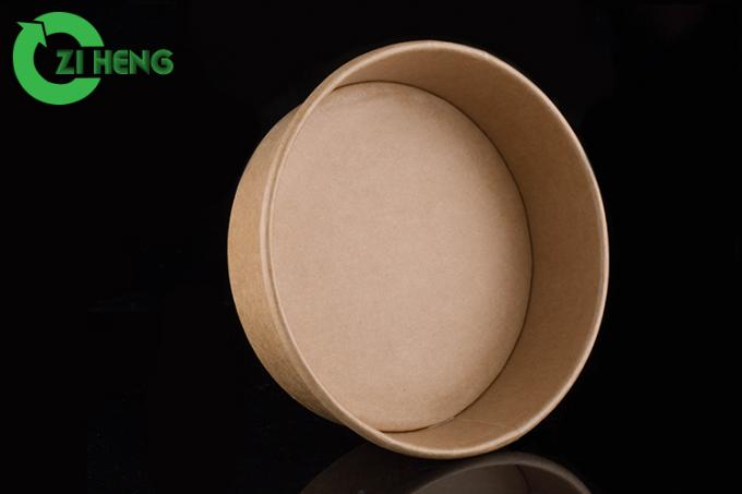 Custom Lunch Brown Kraft Paper Bowls Disposable 16 Ounce Double PE Coating
