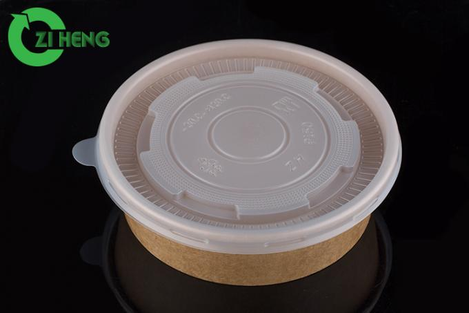 Recyclable Thanksgiving Paper Bowls , 500 ML Microwavable Disposable Soup Bowls