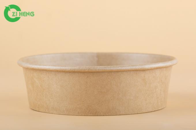 Food grade 100% recyclable disposable kraft strong paper bowl 16oz