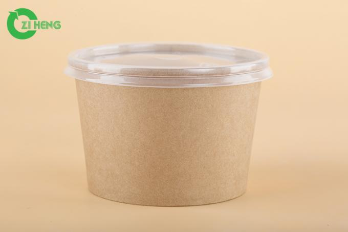 Leak Resistant Single Wall Paper Food Bowls PE Coating 400 ML For Taking Away