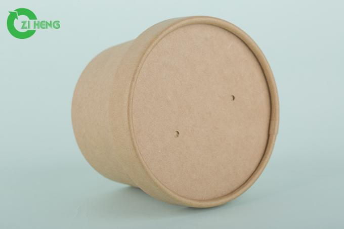 Biodegradable sturdy kraft paper round hot and cold drinks cups 350ml