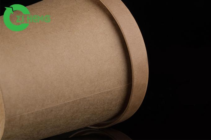 Moisture resistant kraft paper food cup 480ml food grade eco-friendly