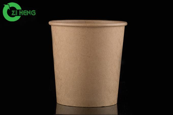 Heat Lamp Resistant Paper Frozen Yogurt Cups Biodegradable Double PE Coated
