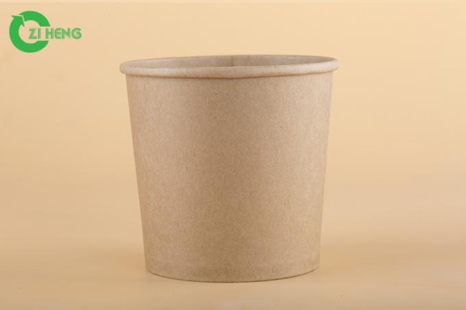 Durable Paper Gelato Cups With Lids , Hot Food Beverage Paper Food Cups 480ml