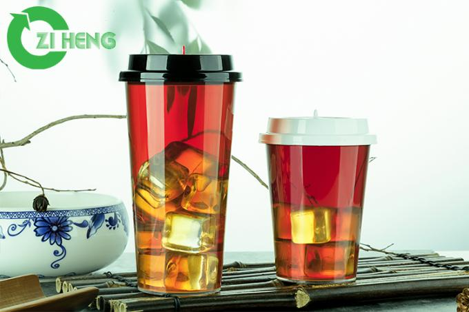 Transparent Water PP Plastic Cup Recycled For Bar / Restaurant Bottom 5.8cm
