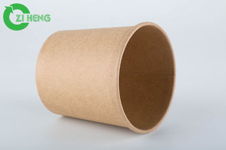 Disposable 8 Oz Kraft Paper Cups , Custom Printed Paper Cups With Paper Cover