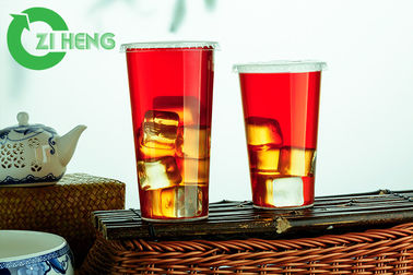 Sturdy Disposable Drinking Cups , PP Plastic Clear Plastic Cups With Lids