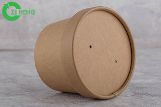 China Drink / Snack Kraft Paper Cups 350 Ml Anti Water With Paper Cover Eco Friendly supplier