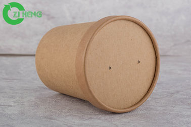 Sturdy Durable Kraft Paper Cups 12 Oz Single Wall For Hot Soup FDA Approved