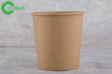 China Food Grade Brown Disposable Paper Cups 480 ML Hard Strong For Water / Beverage supplier