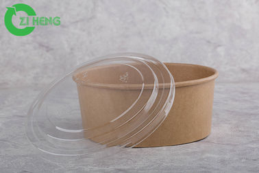 China Microwave Safe Disposable Paper Bowls With Lids 1000ml Eco Friendly EU Approval supplier