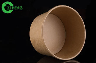 China Easily recyclable brown kraft paper salad bowl food packaging 1300ml supplier