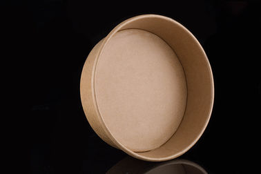 China Custom Lunch Brown Kraft Paper Bowls Disposable 16 Ounce Double PE Coating supplier