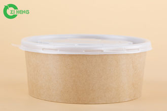 China 1500 ML Compostable Paper Snack Bowls , No Leak Salad Disposable Paper Bowls supplier