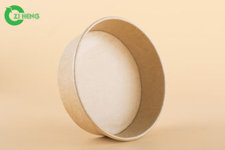 China Food grade 100% recyclable disposable kraft strong paper bowl 16oz supplier