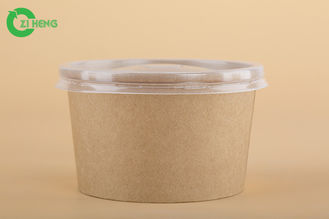 China Hard 16 Oz Disposable Bowls With Lids , High Temperature Paper Bowls For Hot Soup supplier