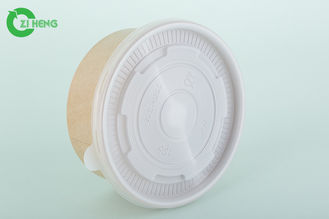 Non Toxic Disposable Paper Bowls With Lids Taking Out Soup / Pasta / Salad