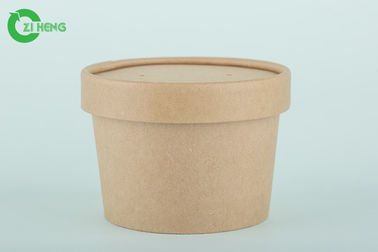China Biodegradable sturdy kraft paper round hot and cold drinks cups 350ml supplier