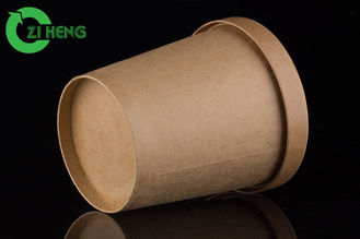 China Moisture resistant kraft paper food cup 480ml food grade eco-friendly supplier
