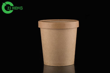 Kraft paper with an internal coating soup cup 780ml with paper vented lid