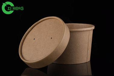 Easily recyclable PE coating kraft paper soup porridge 230ml cups