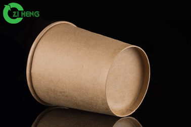 Retain heat and vent moisture food grade kraft paper eco friendly 350ml soup cup