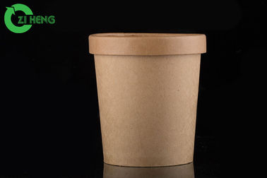 China Heat Lamp Resistant Paper Frozen Yogurt Cups Biodegradable Double PE Coated supplier