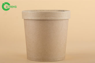 China Durable Paper Gelato Cups With Lids , Hot Food Beverage Paper Food Cups 480ml supplier