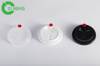 China Stackable Plastic Coffee Cup Lids Heat Resistant White / Black / Clear Color supplier