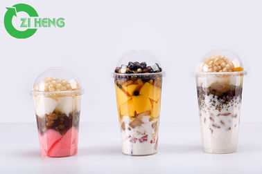 China Oil Resistant PET Plastic Drink Lids Dome Hard For Plastic Cups Food Grade supplier