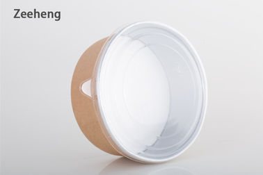Disposable Thick Aluminium Containers Brown Paper Bowls For Cooking Baking Food