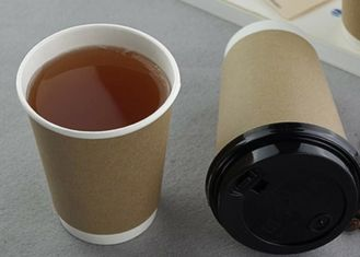 Non - Toxic Double Layer Takeaway Paper Coffee Cups , Disposable Paper Cups