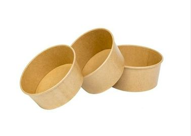 China Natural Kraft Grease Resistant Brown Paper Bowls Food Grade 100% Eco - Friendly supplier