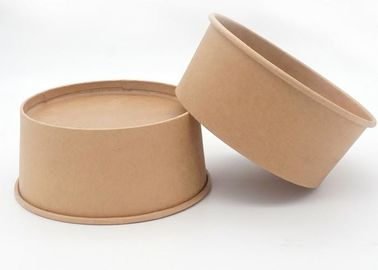 China Hard Disposable Food Kraft Paper Bowls For Take Out Orders , Variety Of Sizes supplier