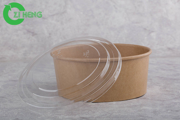 Microwave Safe Disposable Paper Bowls With Lids 1000ml Eco Friendly Eu Roval