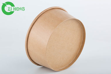 China Disposable kraft paper bowls 25oz take away food container for salad pasta factory