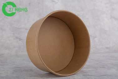China Food use disposable kraft paper biodegradable bowl 750ml for salad soup factory