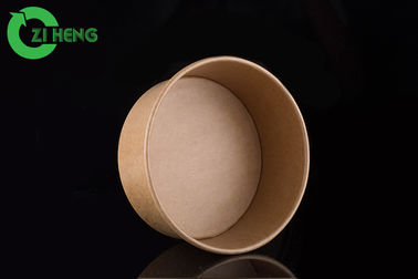 China Microwavable Kraft Paper Bowls 25 Oz Single Wall Takeaway Food Containers factory