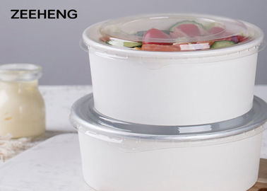 China 25oz 26oz 32oz Paper Food Bowls , White Hot Soup Or Ice Cream Disposable Paper Bowl factory